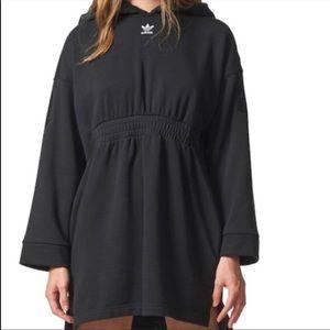 Adidas Hooded Dress Sweater Logo Oversized XS